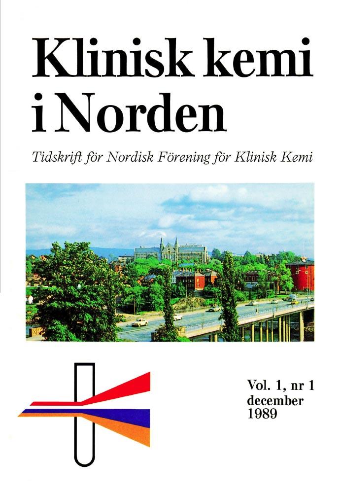 Klinisk Kemi i Norden – Nr. 1, vol. 1, 1989
