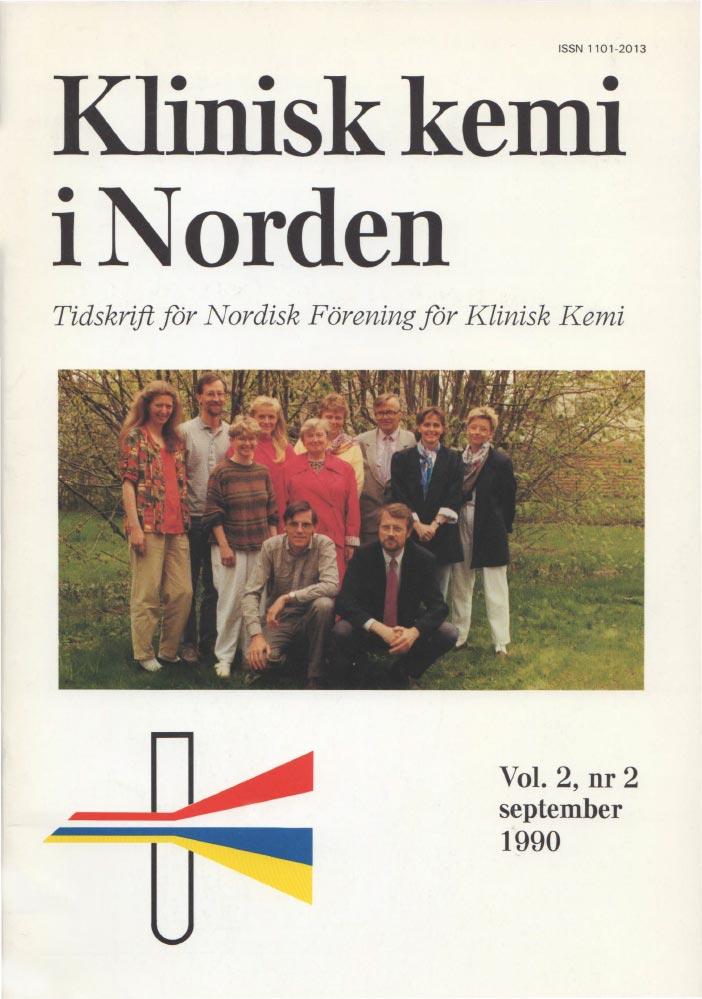 Klinisk Kemi i Norden – Nr. 2, vol. 2, 1990