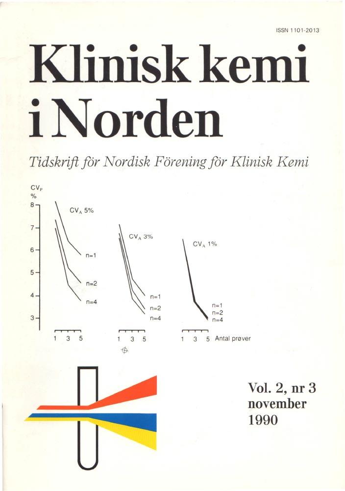 Klinisk Kemi i Norden – Nr. 3, vol. 2, 1990