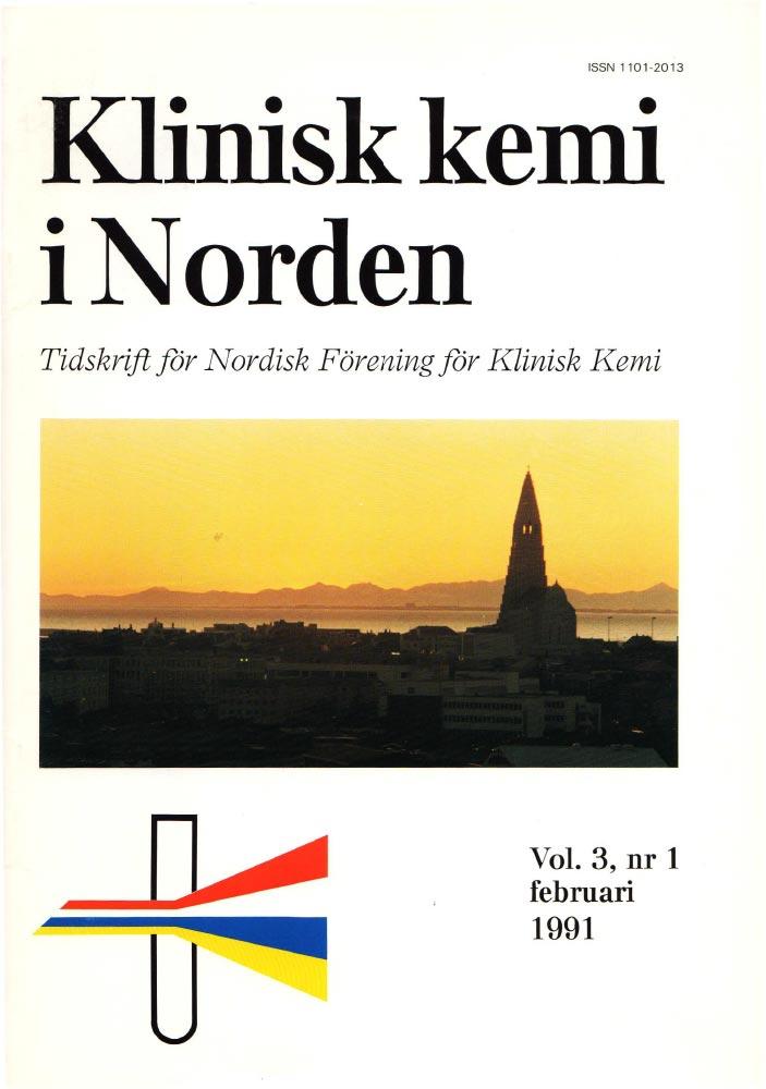 Klinisk Kjemi i Norden – Nr. 1, vol. 3, 1991
