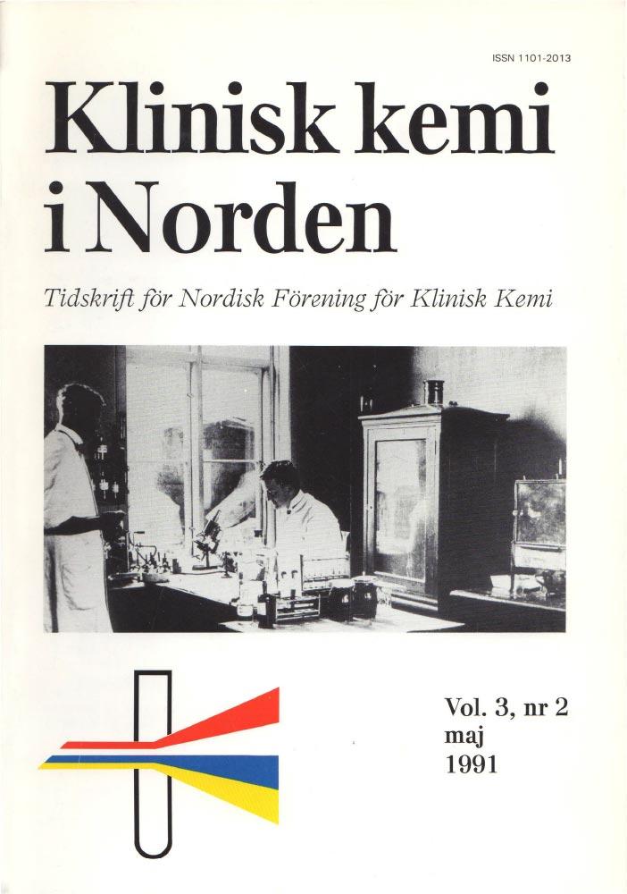 Klinisk Kjemi i Norden – Nr. 2, vol. 3, 1991
