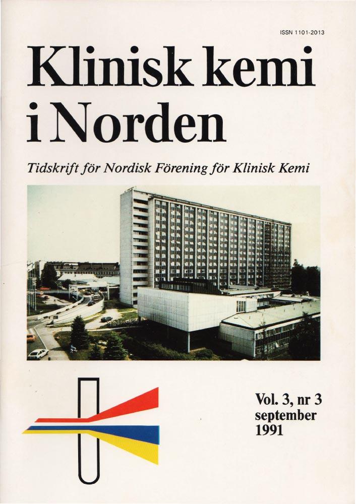 Klinisk Kjemi i Norden – Nr. 3, vol. 3, 1991