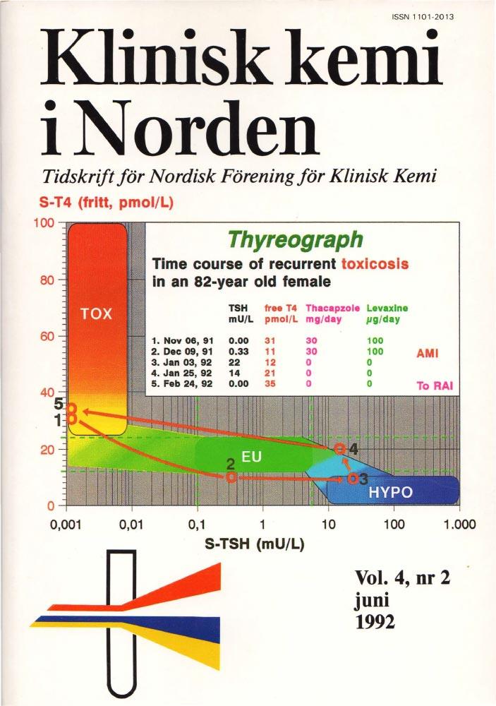 Klinisk Kjemi i Norden – Nr. 2, vol. 4, 1992