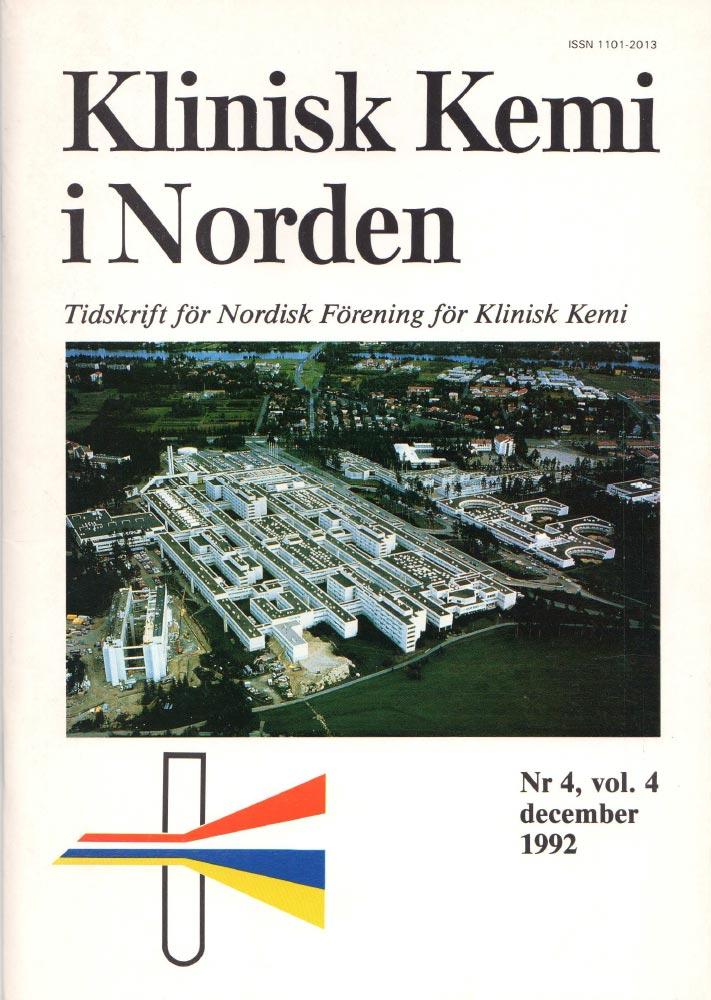 Klinisk Kjemi i Norden – Nr. 4, vol. 4, 1992