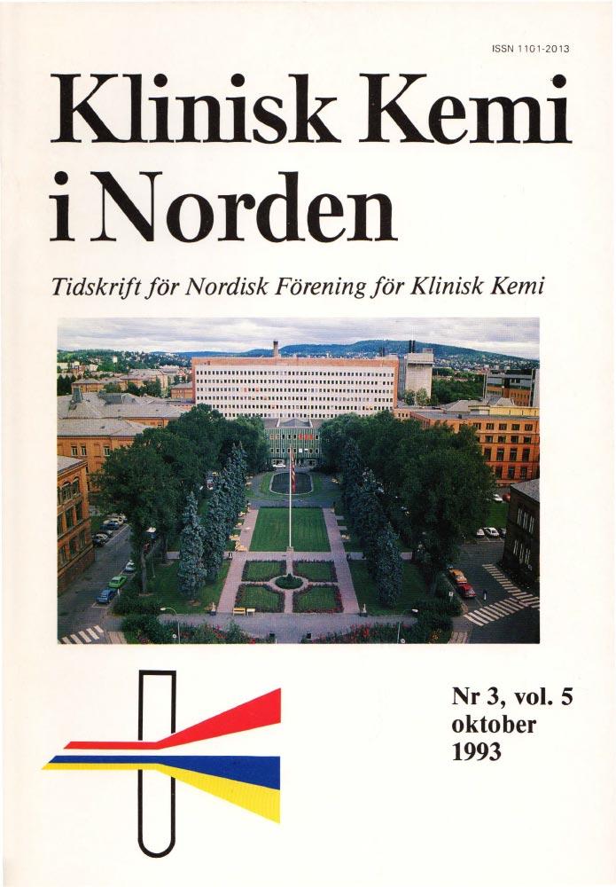 Klinisk Kjemi i Norden – Nr. 3, vol. 5, 1993