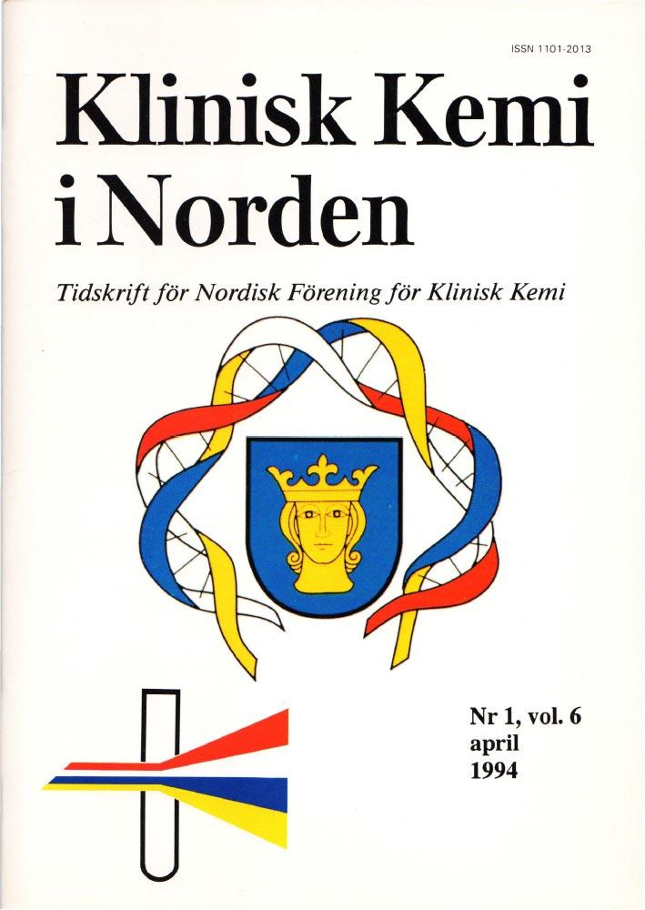 Klinisk Kjemi i Norden – Nr. 1, vol. 6, 1994