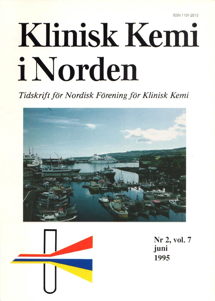 Klinisk Kjemi i Norden – Nr. 2, vol. 7, 1995