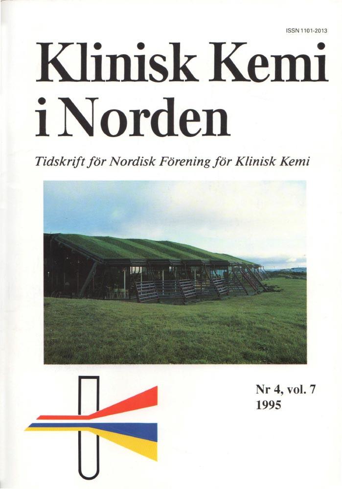 Klinisk Kjemi i Norden – Nr. 4, vol. 7, 1995
