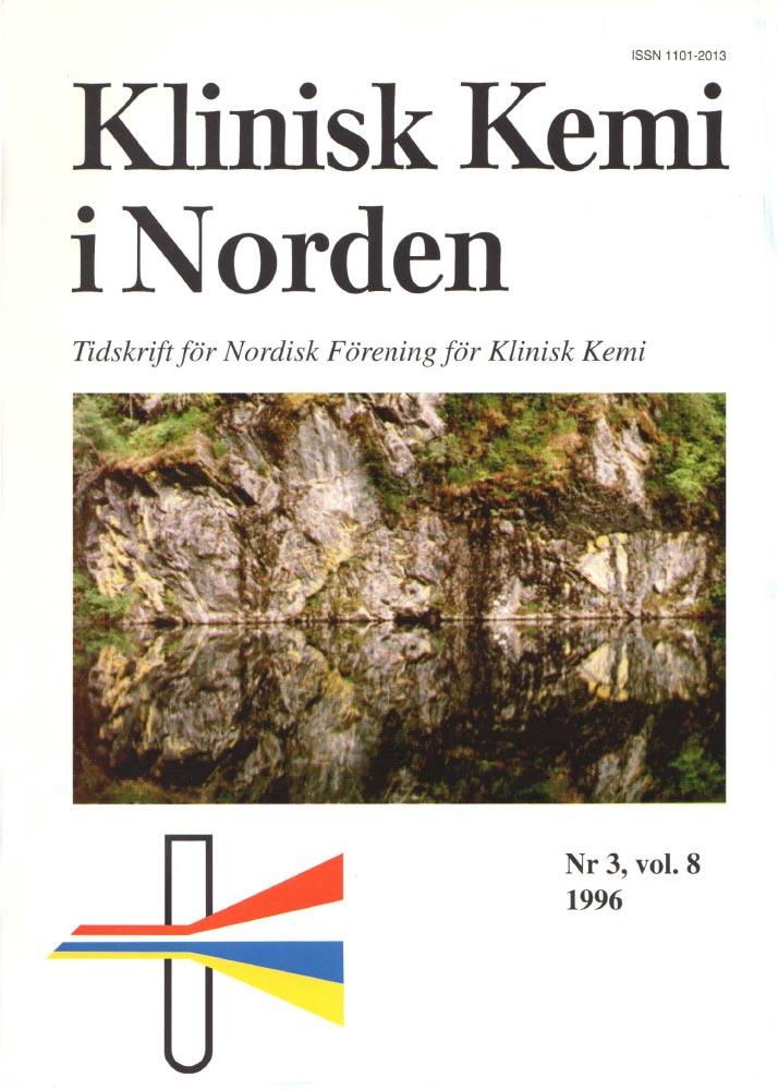 Klinisk Kjemi i Norden – Nr. 3, vol. 8, 1996