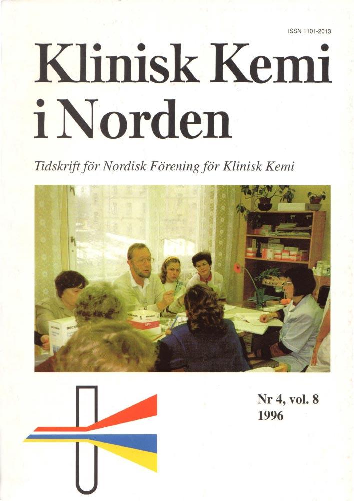Klinisk Kjemi i Norden – Nr. 4, vol. 8, 1996