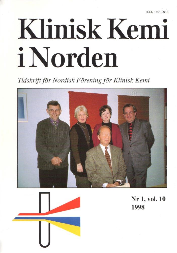 Klinisk Kjemi i Norden – Nr. 1, vol. 10, 1998
