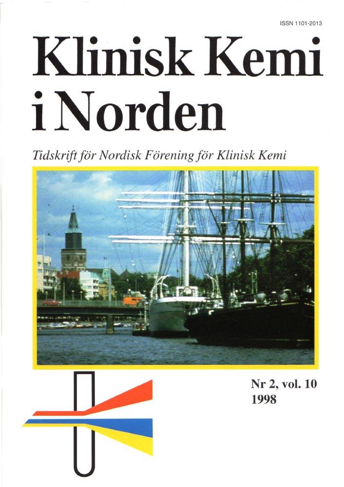Klinisk Kjemi i Norden – Nr. 2, vol. 10, 1998