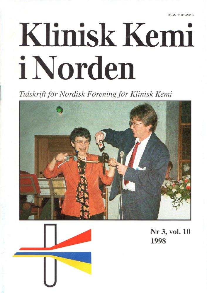 Klinisk Kjemi i Norden – Nr. 3, vol. 10, 1998