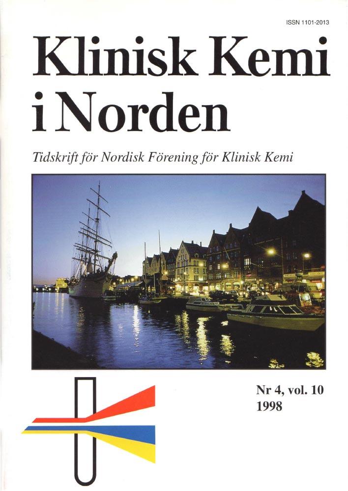 Klinisk Kjemi i Norden – Nr. 4, vol. 10, 1998