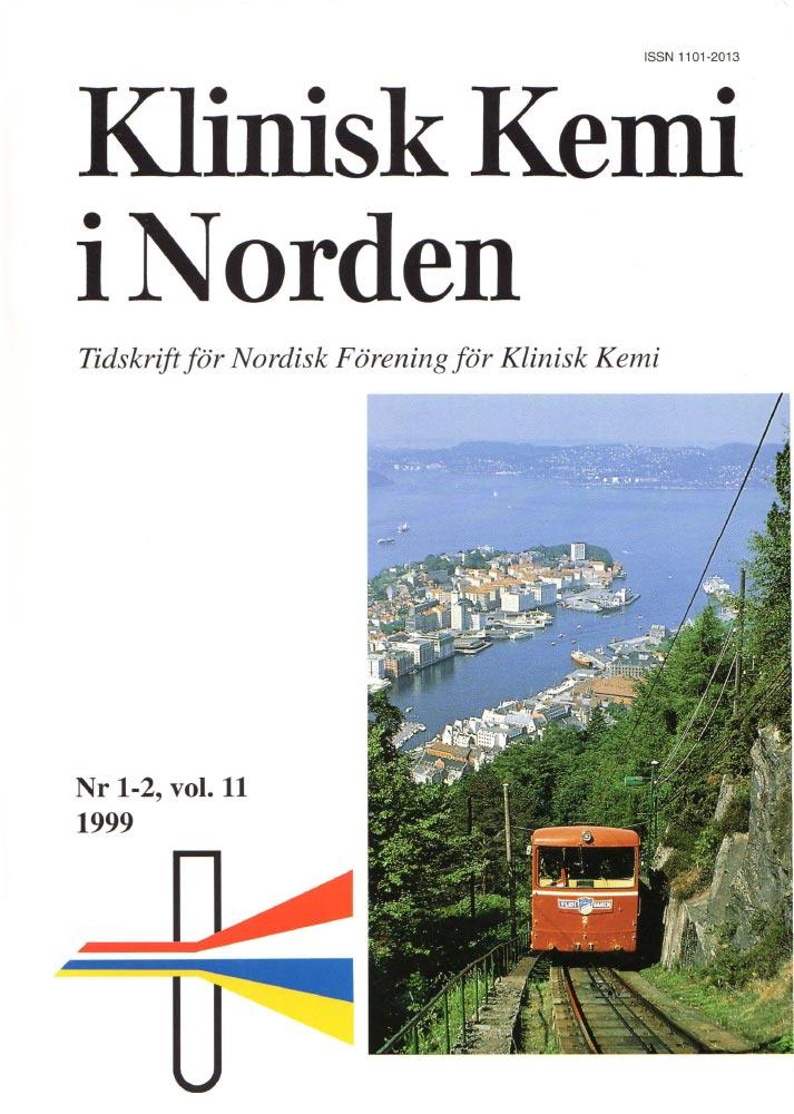Klinisk Kjemi i Norden – Nr. 1-2, vol. 11, 1999