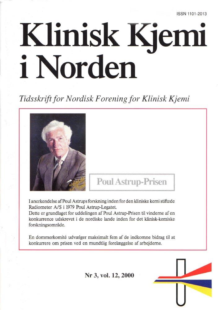 Klinisk Kjemi i Norden – Nr. 3, vol. 12, 2000