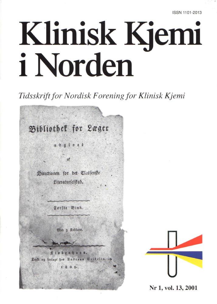 Klinisk Kjemi i Norden – Nr. 1, vol. 13, 2001