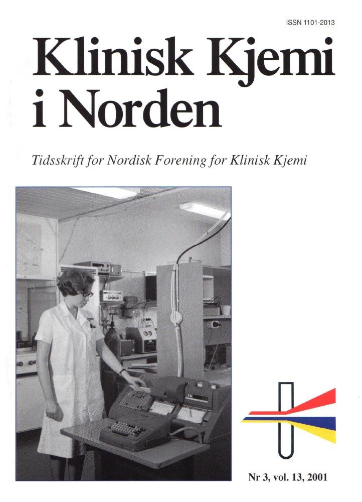 Klinisk Kjemi i Norden – Nr. 3, vol. 13, 2001