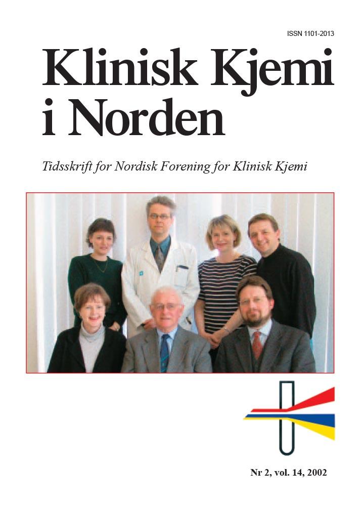 Klinisk Kjemi i Norden – Nr. 2, vol. 13, 2002