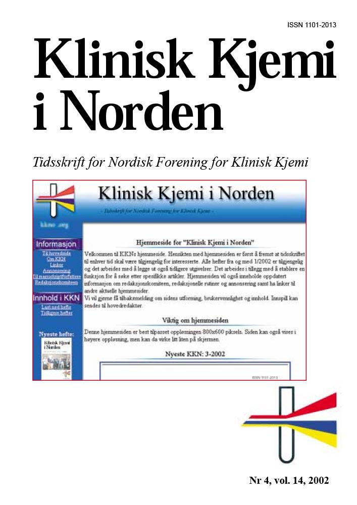Klinisk Kjemi i Norden – Nr. 4, vol. 13, 2002
