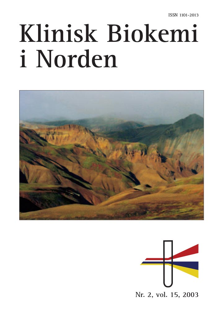 Klinisk Biokemi i Norden – Nr. 2, vol. 15, 2003