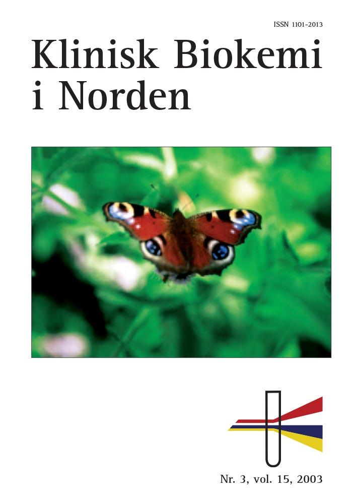 Klinisk Biokemi i Norden – Nr. 3, vol. 15, 2003
