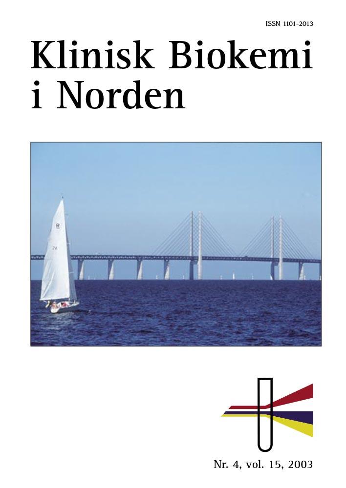 Klinisk Biokemi i Norden – Nr. 4, vol. 15, 2003