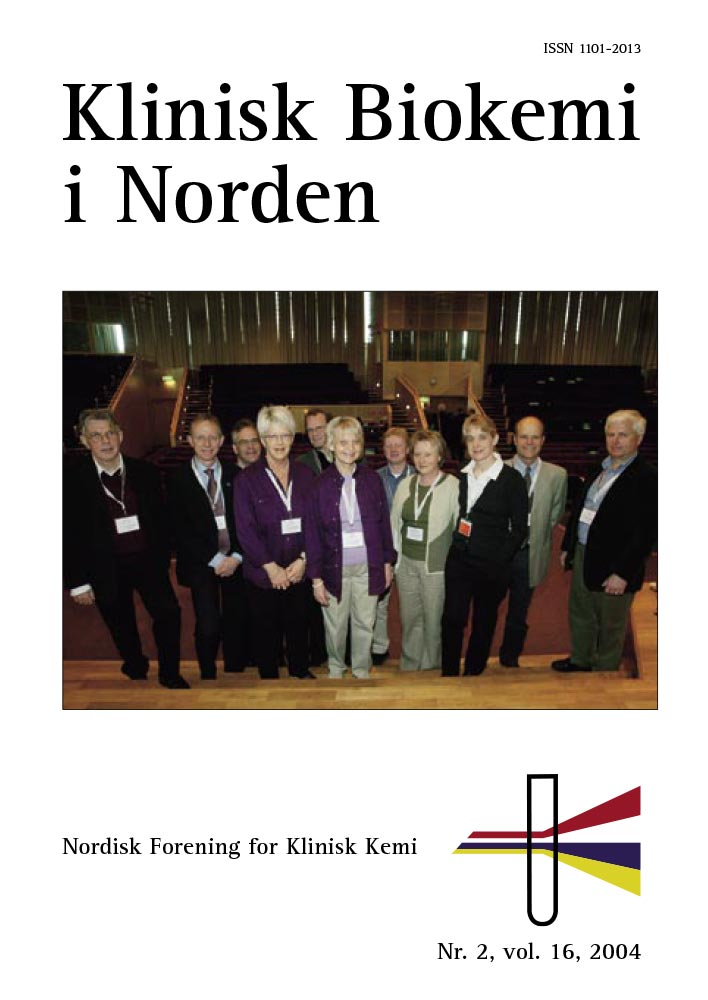 Klinisk Biokemi i Norden – Nr. 2, vol. 16, 2004