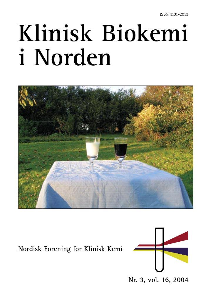 Klinisk Biokemi i Norden – Nr. 3, vol. 16, 2004