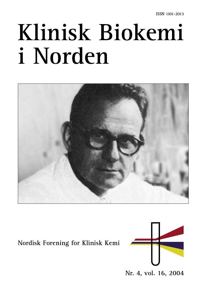Klinisk Biokemi i Norden – Nr. 4, vol. 16, 2004