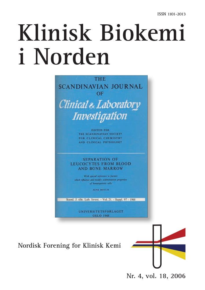 Klinisk Biokemi i Norden – Nr. 4, vol. 18, 2006