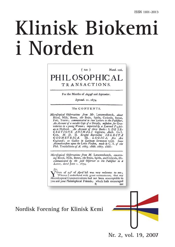 Klinisk Biokemi i Norden – Nr. 2, vol. 19, 2007