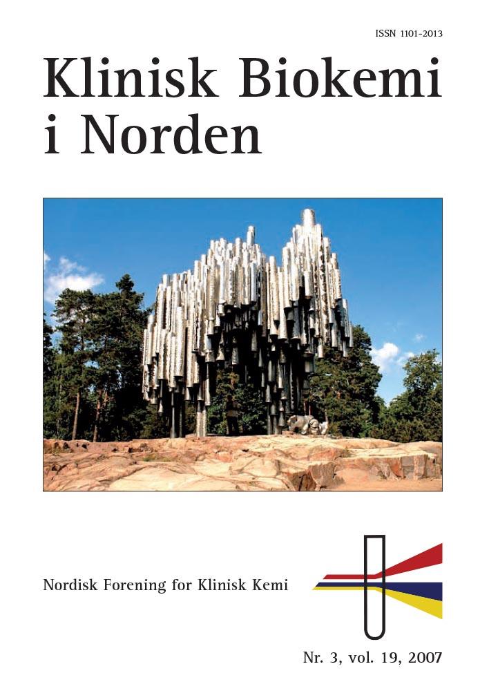 Klinisk Biokemi i Norden – Nr. 3, vol. 19, 2007