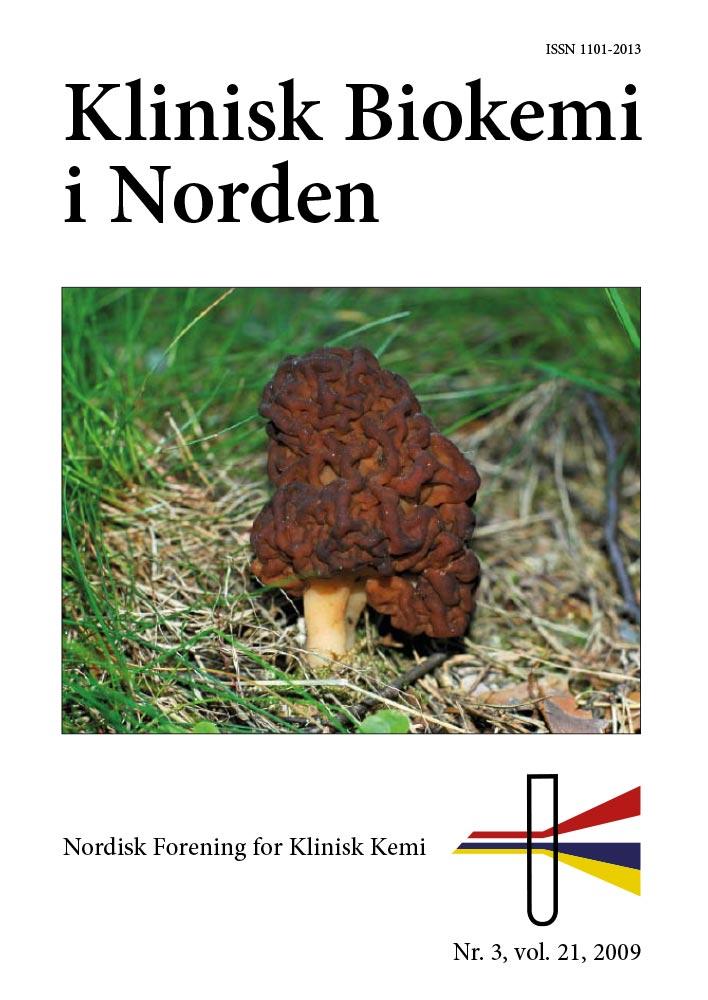 Klinisk Biokemi i Norden – Nr. 3, vol. 21, 2009