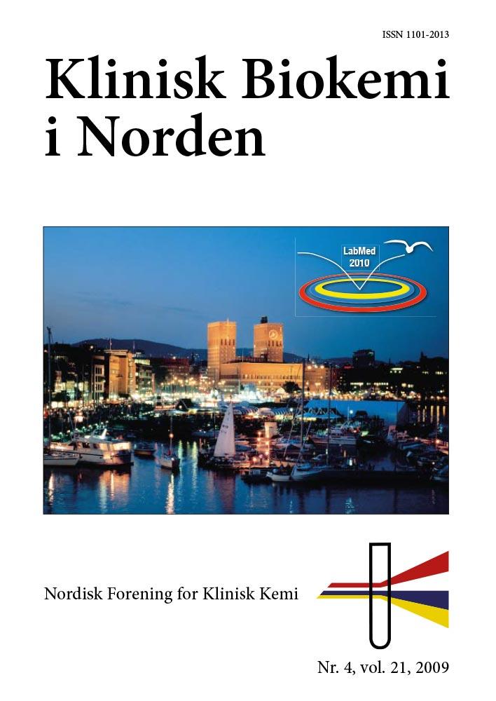 Klinisk Biokemi i Norden – Nr. 4, vol. 21, 2009