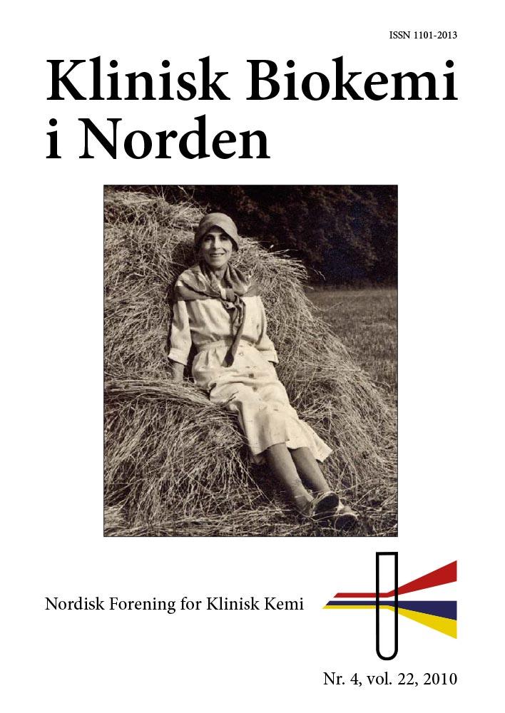 Klinisk Biokemi i Norden – Nr. 4, vol. 22, 2010