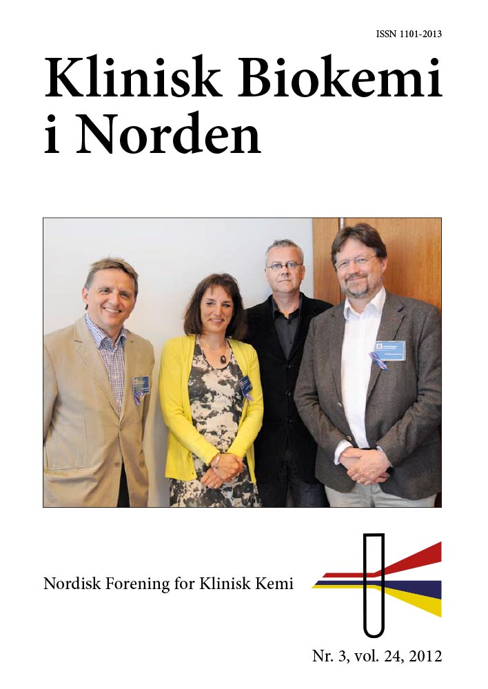 Klinisk Biokemi i Norden – Nr. 3, vol. 24, 2012