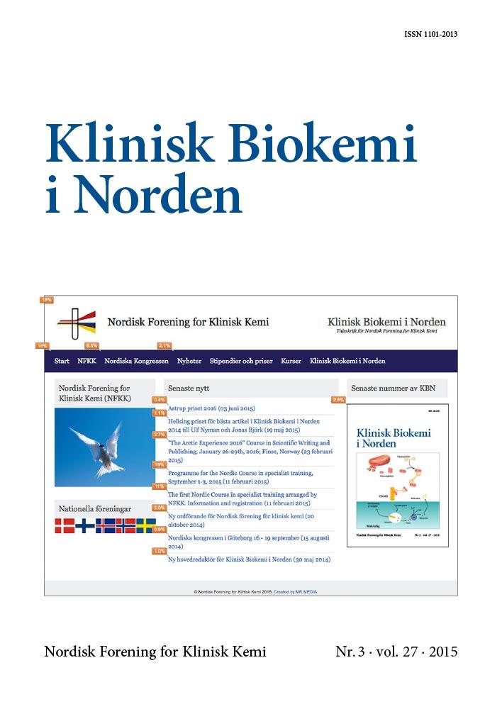 Klinisk Biokemi i Norden – Nr. 3, vol. 27, 2015