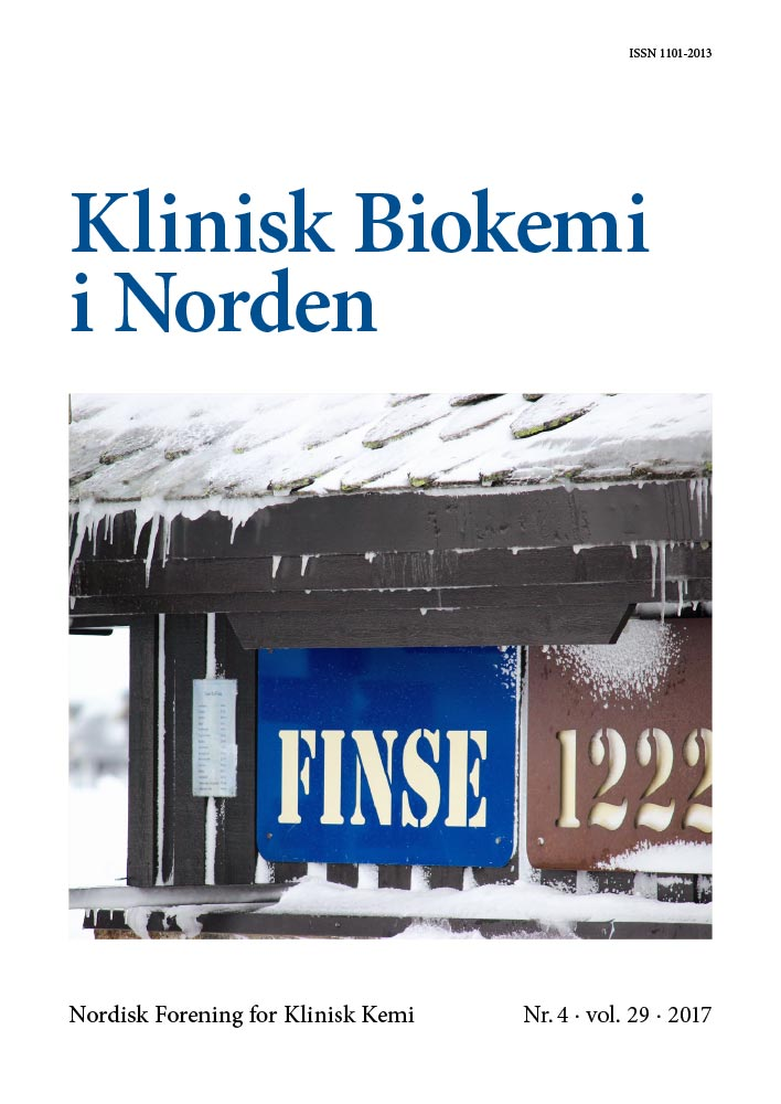 Klinisk Biokemi i Norden – Nr. 4, vol. 29, 2017