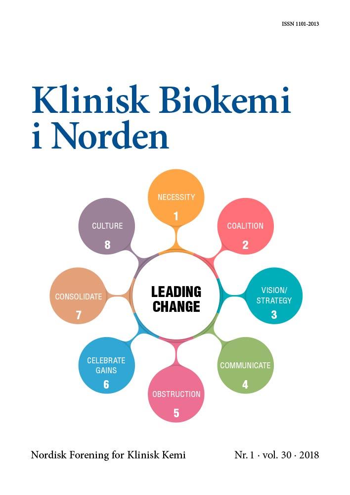Klinisk Biokemi i Norden – Nr. 1, vol. 30, 2018